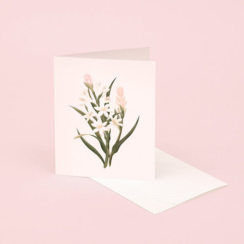 Botanical Scented Card - Tuberose | Paper & Cards Studio