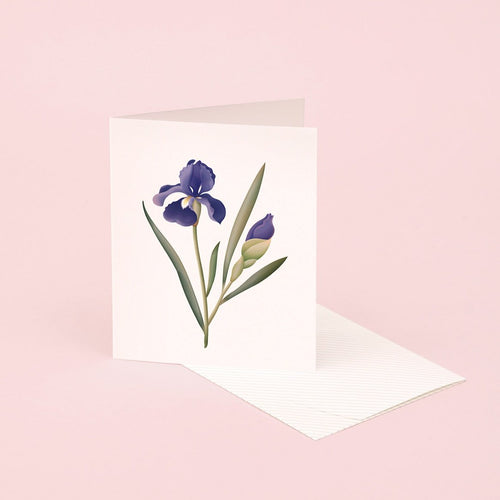 Botanical Scented Card - Iris | Paper & Cards Studio