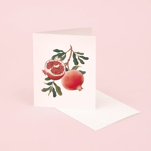 Botanical Scented Card - Pomegranate | Paper & Cards Studio