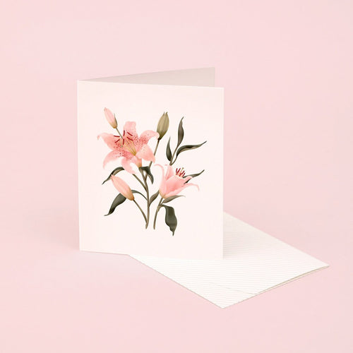 Botanical Scented Card - Oriental Lily | Paper & Cards Studio