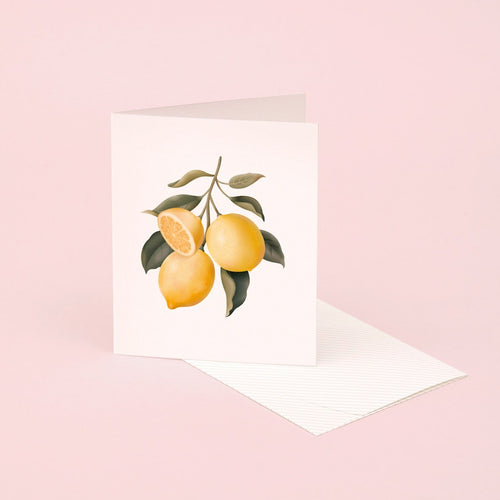 Botanical Scented Card - Lemon | Paper & Cards Studio