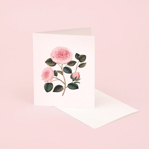 Botanical Scented Card - Bulgarian Rose | Paper & Cards Studio