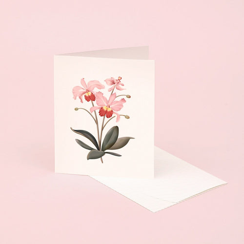 Botanical Scented Card - Orchid | Paper & Cards Studio