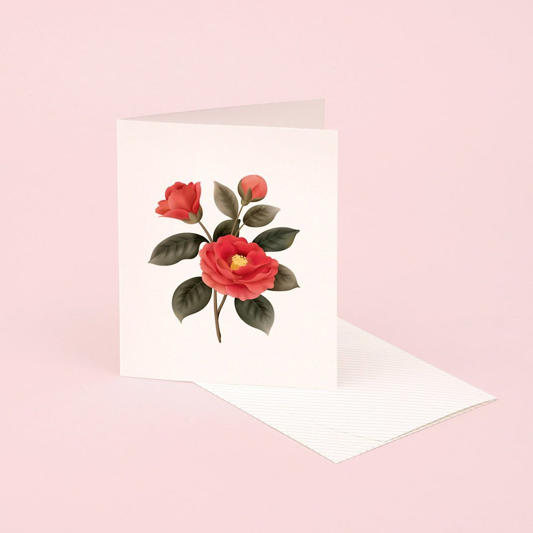 Botanical Scented Card - Camellia | Paper & Cards Studio