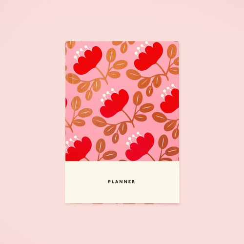 Blossom Gold Planner - Red Petal | Paper & Cards Studio