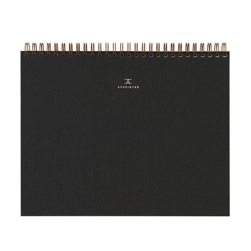 Appointed Sketchpad in Charcoal Gray | Paper & Cards Studio
