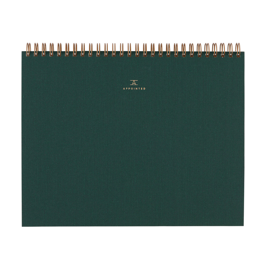 Appointed Sketchpad in Hunter Green | Paper & Cards Studio
