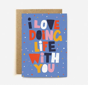 Love Doing Life With You Card | Paper & Cards Studio