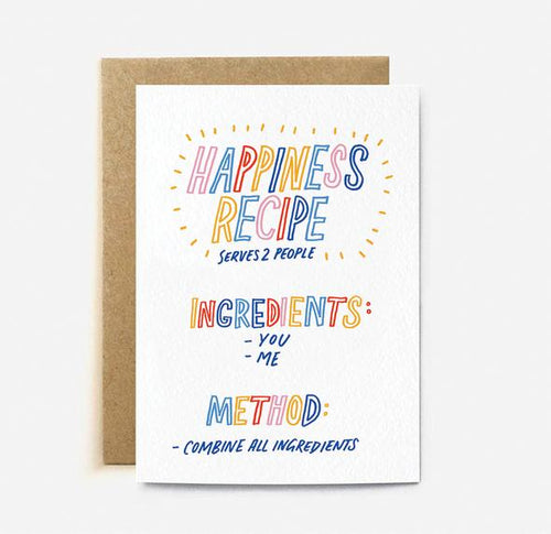 Happiness Recipe Card | Paper & Cards Studio