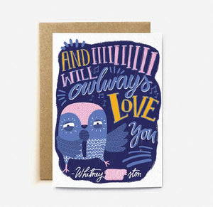 Whitney Hooston Card | Paper & Cards Studio