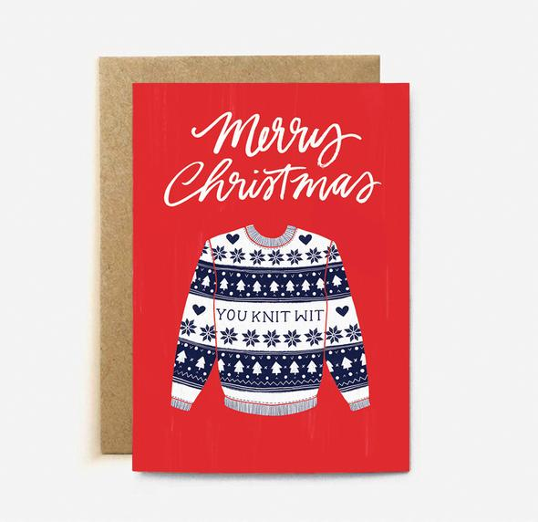 Knit Wit Card | Paper & Cards Studio