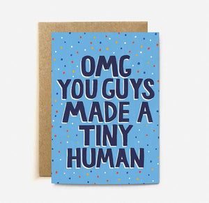 Tiny Human Blue Card | Paper & Cards Studio