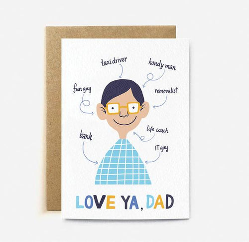 Love Ya, Dad Card | Paper & Cards Studio