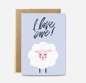 I Love Ewe | Paper & Cards Studio
