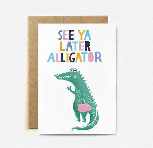 Later Alligator Card | Paper & Cards Studio