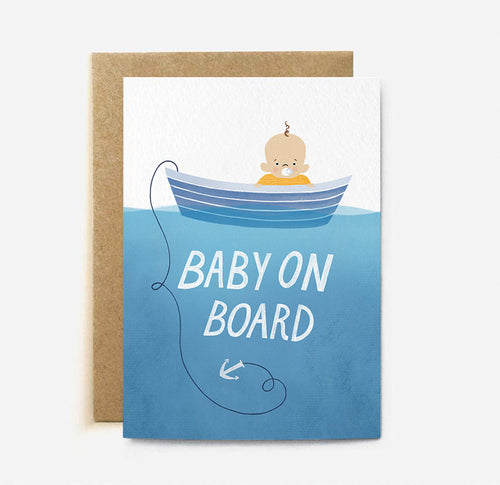 Baby On Board Card | Paper & Cards Studio