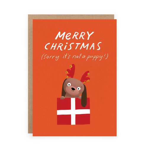 Christmas Puppy Card | Paper & Cards Studio