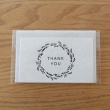 Load image into Gallery viewer, Thank You Wreath Mini Letterpress Card | Paper & Cards Studio