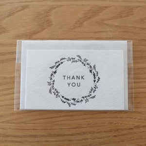 Thank You Wreath Mini Letterpress Card | Paper & Cards Studio