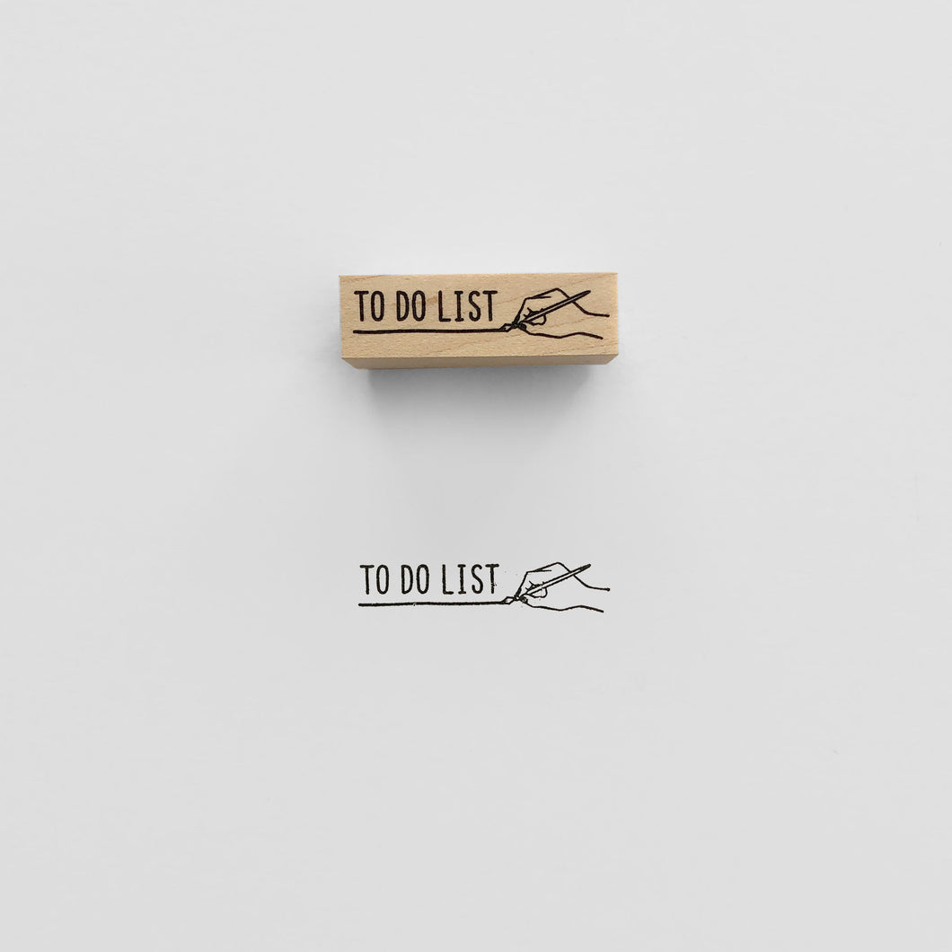 To Do List Stamp | Paper & Cards Studio