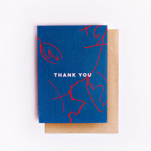 Thank You Leaf Scribble | Paper & Cards Studio