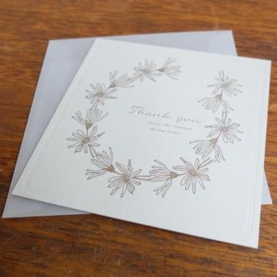 Thank You Daisy Letterpress Card | Paper & Cards Studio