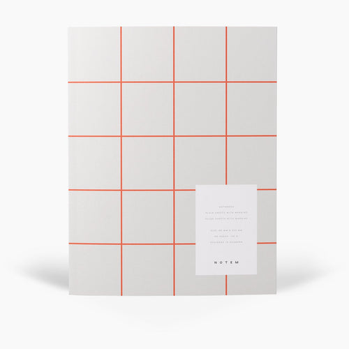 UMA Flat Lay Notebook - Large, Light Gray, Blank and Lined | Paper & Cards Studio