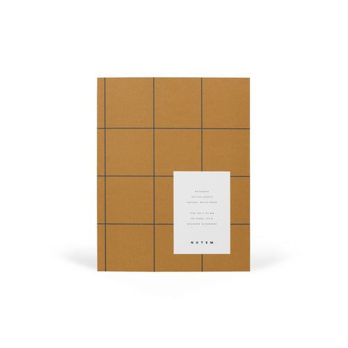 UMA Flat Lay Notebook - Medium, Ochre, Dot Grid