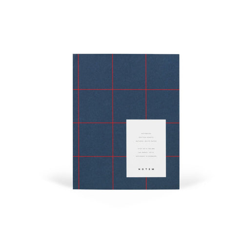 UMA Flat Lay Notebook - Medium, Dark Blue, Dot Grid