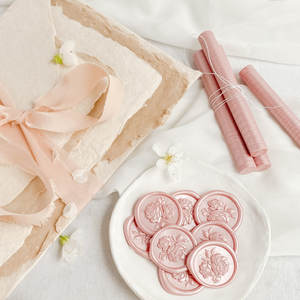 Vintage Peonies Wax Seals | Paper & Cards Studio