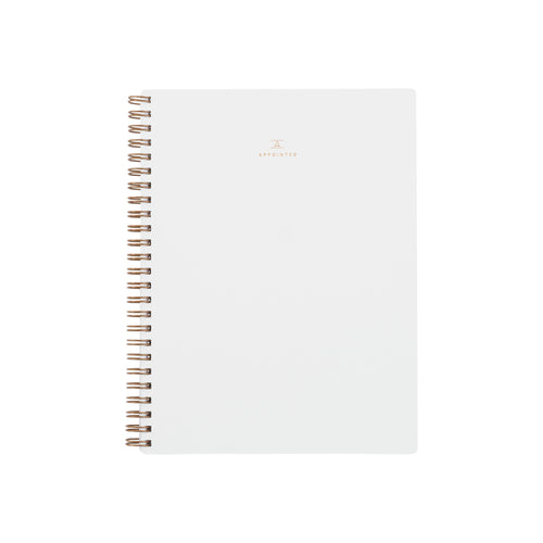 Appointed Workbook in Linen White, Lined/Grid/Blank | Paper & Cards Studio