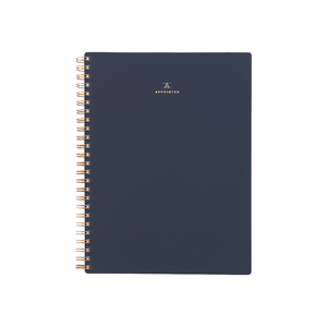 Appointed Workbook in Oxford Blue, Lined/Grid/Blank | Paper & Cards Studio