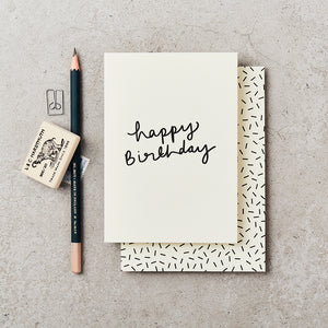 Handwritten Happy Birthday Card