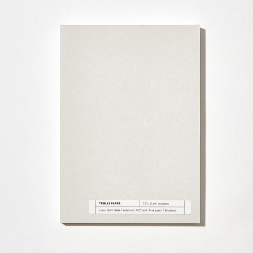 Plain Note 101: Blank Note | Paper & Cards Studio