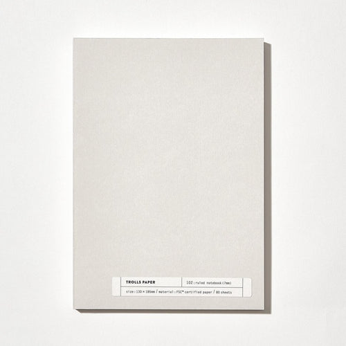 Plain Note 102: Ruled Note (7mm) | Paper & Cards Studio