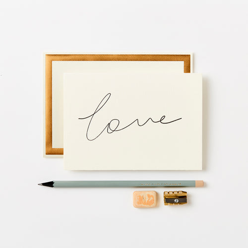 Handwritten Love Card