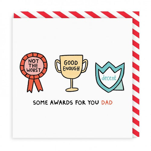 Dad Awards Square Card | Paper & Cards Studio