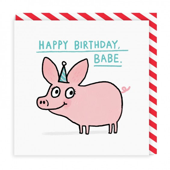 Happy Birthday Babe Square Card | Paper & Cards Studio