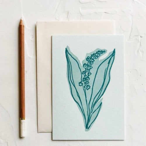 Floral Colorblock Lily Of The Valley | Paper & Cards Studio