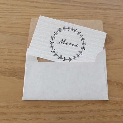 Merci Mini Letterpress Card | Paper & Cards Studio