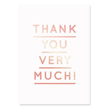 Load image into Gallery viewer, Thank You Very Much Postcard | Paper & Cards Studio