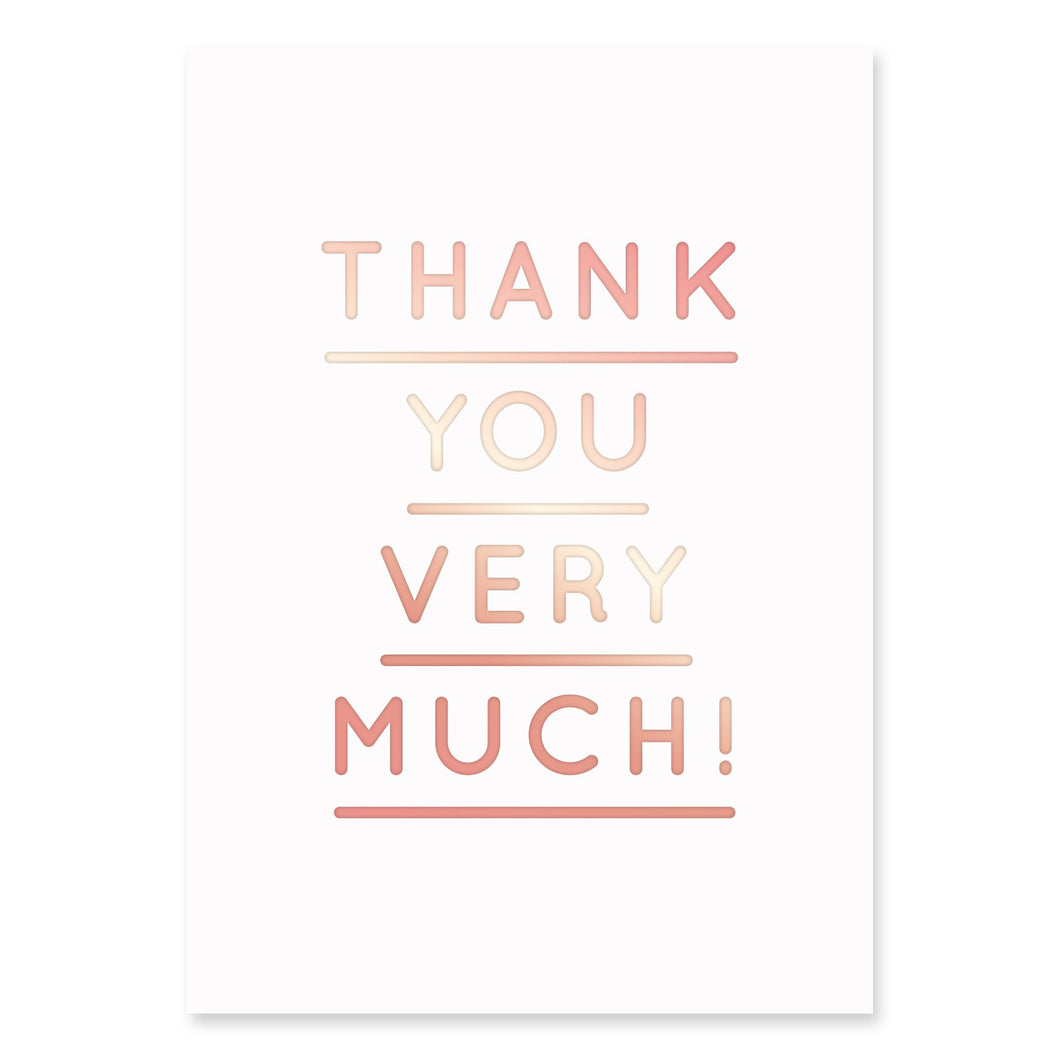 Thank You Very Much Postcard | Paper & Cards Studio