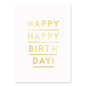 Happy Happy Birthday Postcard | Paper & Cards Studio