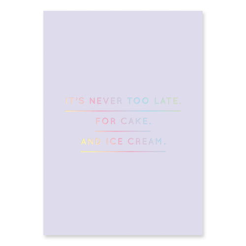 It's Never Too Late Postcard | Paper & Cards Studio