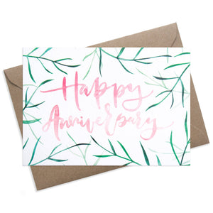 Happy Anniversary Palms | Paper & Cards Studio