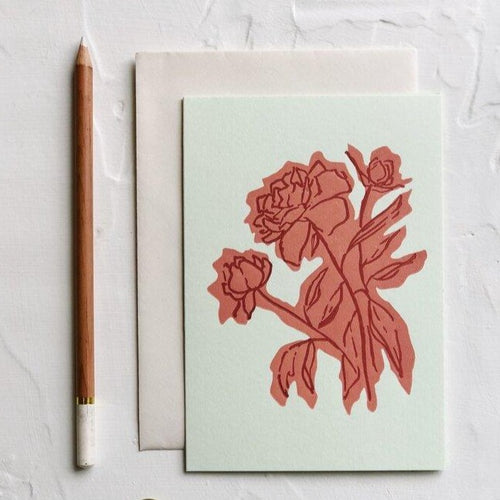 Floral Color Block Peony | Paper & Cards Studio