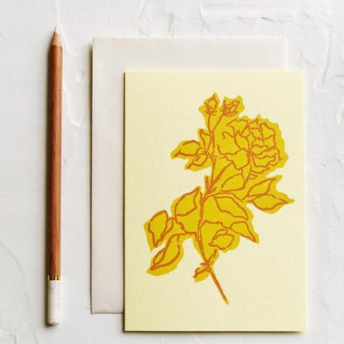 Floral Colorblock Yellow Rose | Paper & Cards Studio
