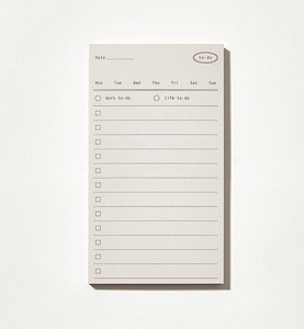 Plain Memo Pad - To-Do Memo | Paper & Cards Studio