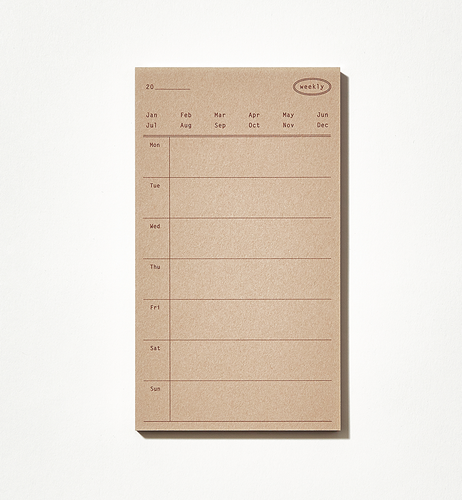Plain Memo Pad - Weekly Memo | Paper & Cards Studio