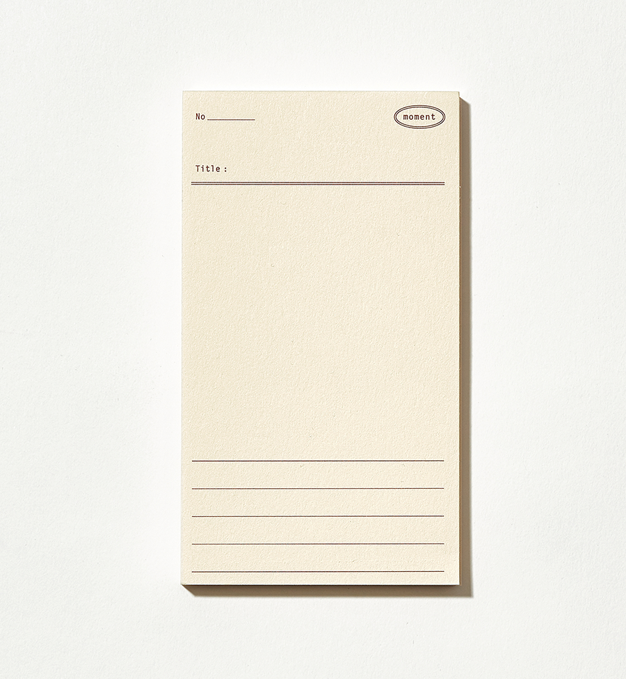 Plain Memo Pad - Moment Memo | Paper & Cards Studio